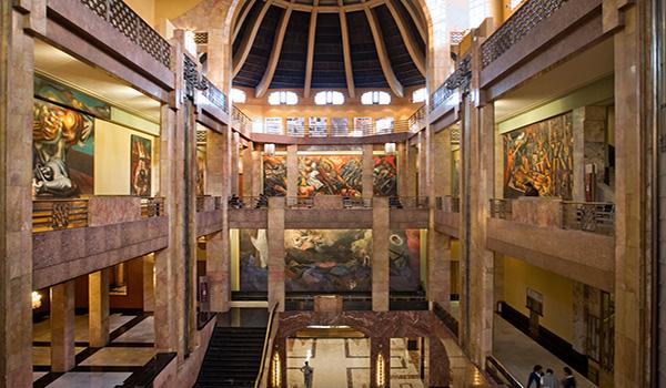 Interior del Palacio de Bellas Artes
