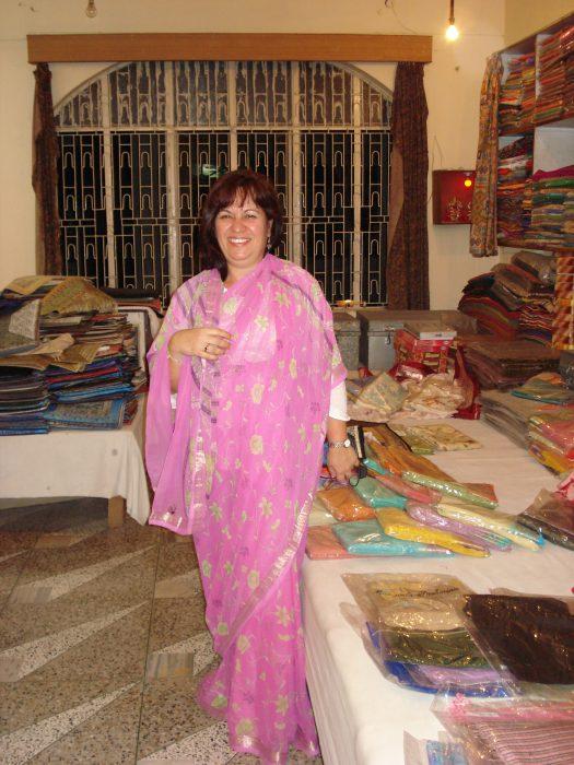 Loja de seda na Índia