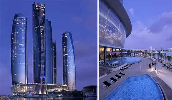 Prédios futuristas em Abu Dhabi