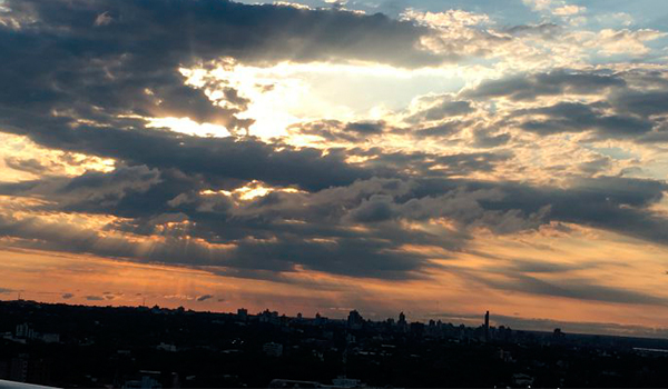 Pôr do sol paraguaio