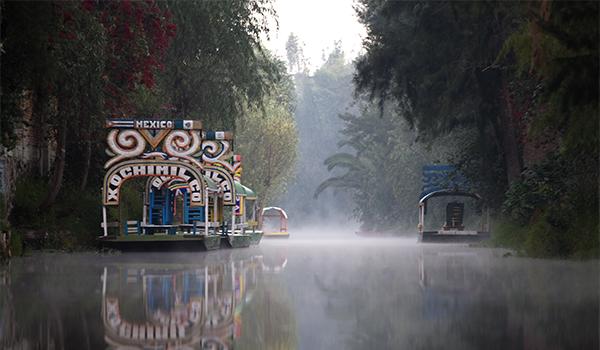 Xochimilco animado passeio da Cidade do México