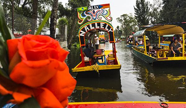 Xochimilco animado passeio da Cidade do Méxicoo México